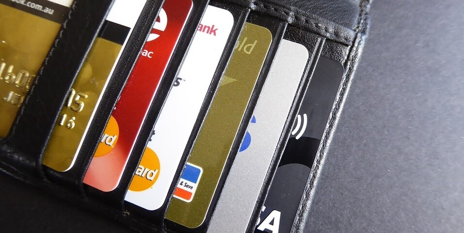 Kreditkort i plånbok